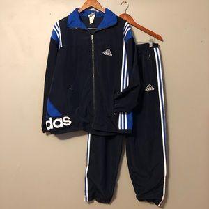 Vintage Adidas Men's XL Track Suit Jacket & Pants
